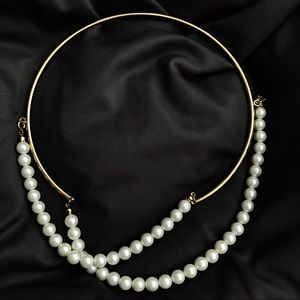 Pearl Necklace/ Neck Cuff/ Collar Necklace